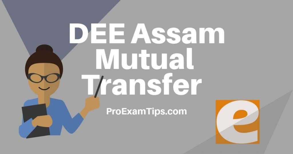 DEE Assam Mutual Transfer 2019