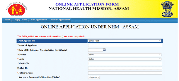 National Health Mission Assam Recruitment 2019
