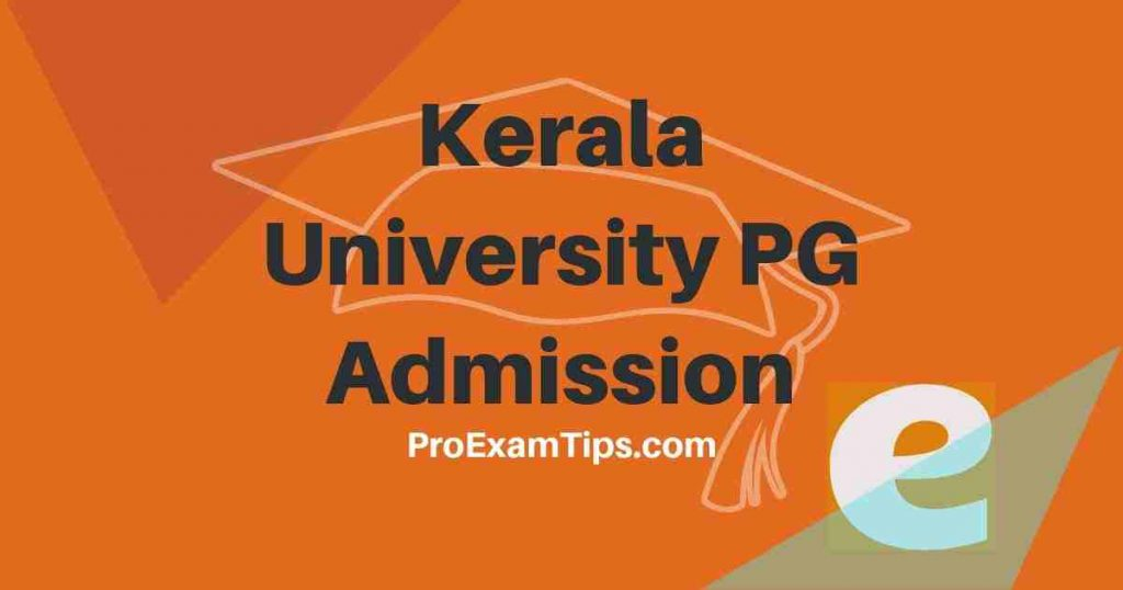 Kerala University PG Admission