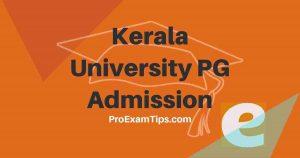 Kerala University PG Admission