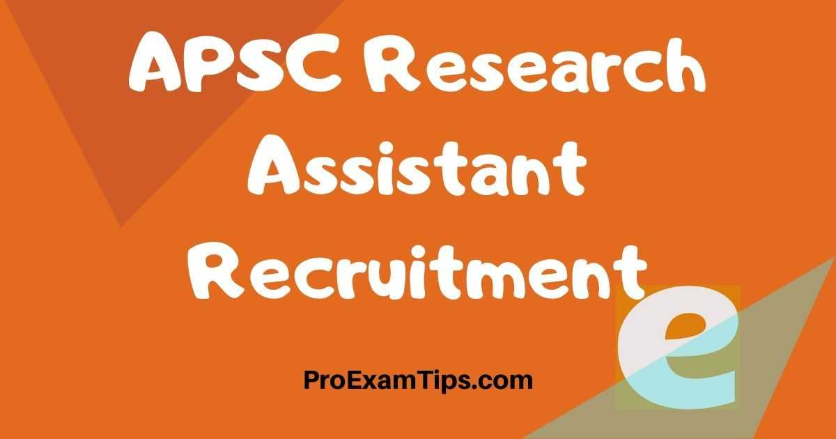 APSC Research Assistant Recruitment