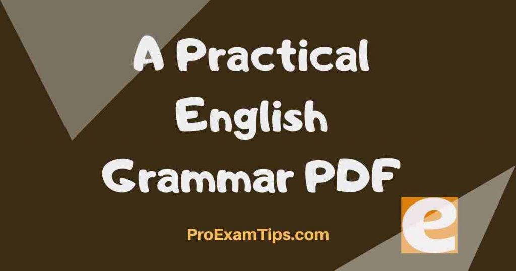 A Practical English Grammar PDF