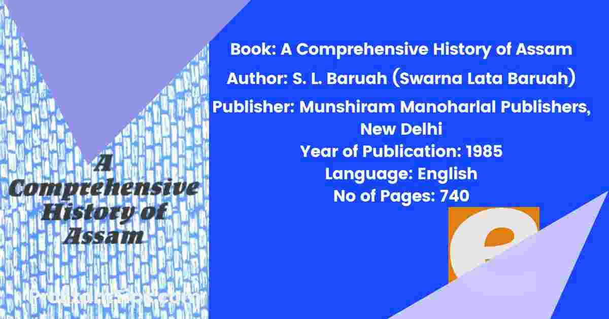 a comprehensive history of Assam pdf download