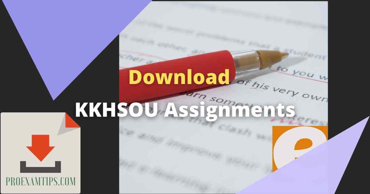 KKHSOU Assignments