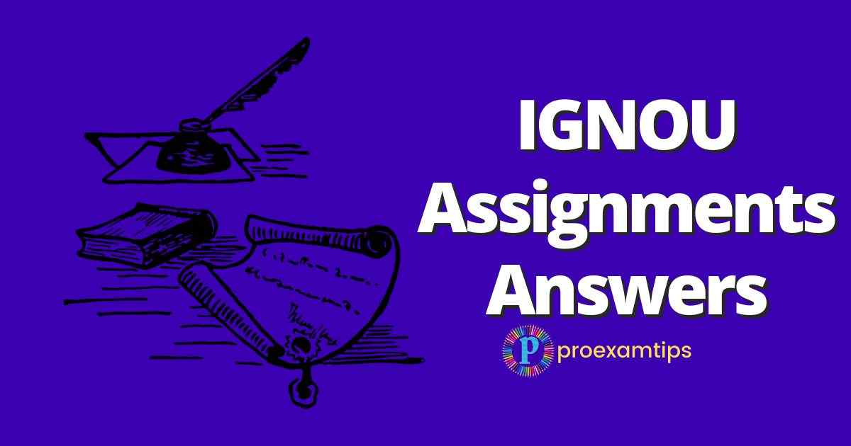 IGNOU Assignment Answers