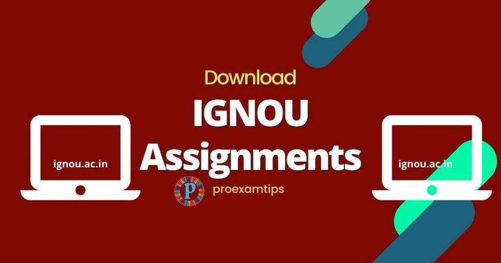 IGNOU Assignment