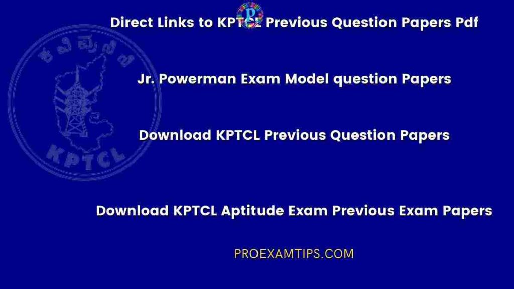 Download KPTCL Previous Question Papers PDF Files 1