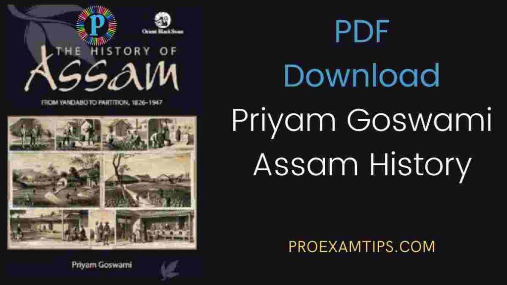 history of Assam by Priyam Goswami pdf free download
