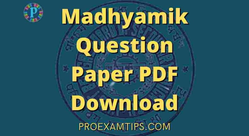 Madhyamik Question Paper PDF Download