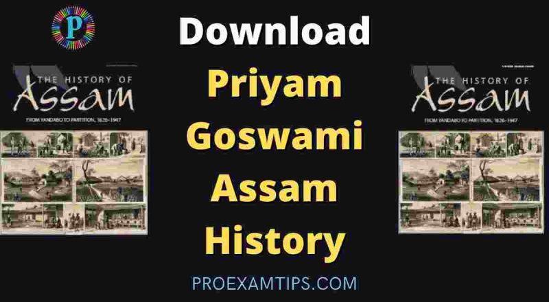Priyam Goswami Assam History pdf