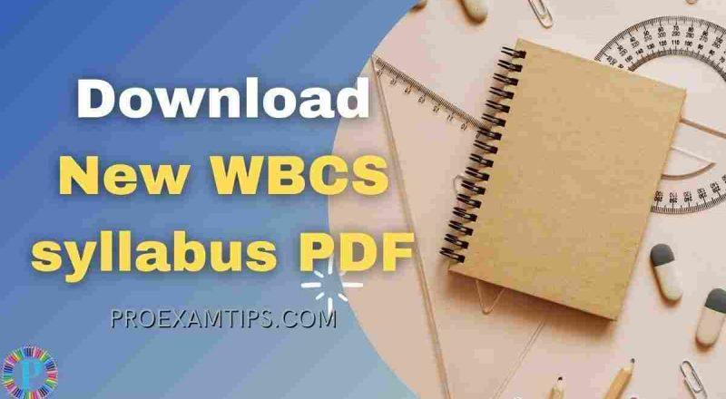 WBCS syllabus 2021